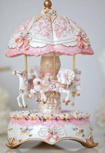 Shabby chic bedroom carousel