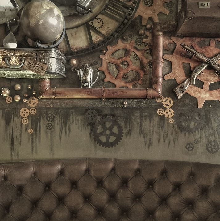 Some steampunk bedroom decorations