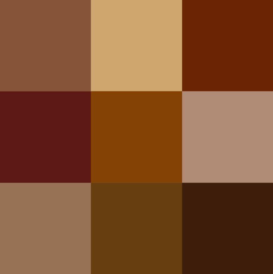 Brown steampunk color palettes