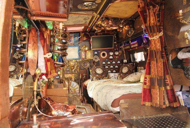 A steampunk apartment room
