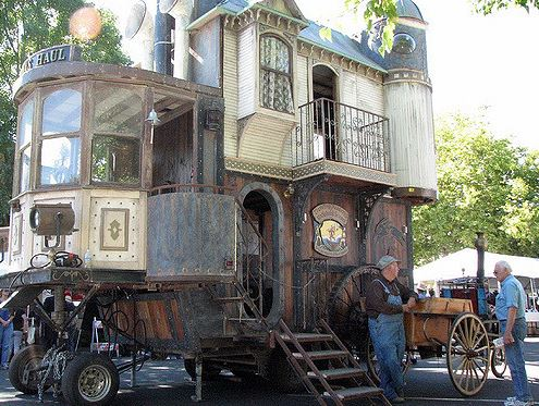 An example of a victorian steampunk house